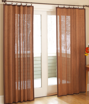 Curtains for glass sliding doors